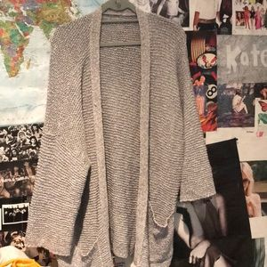 Aerie Gray knit cardigan